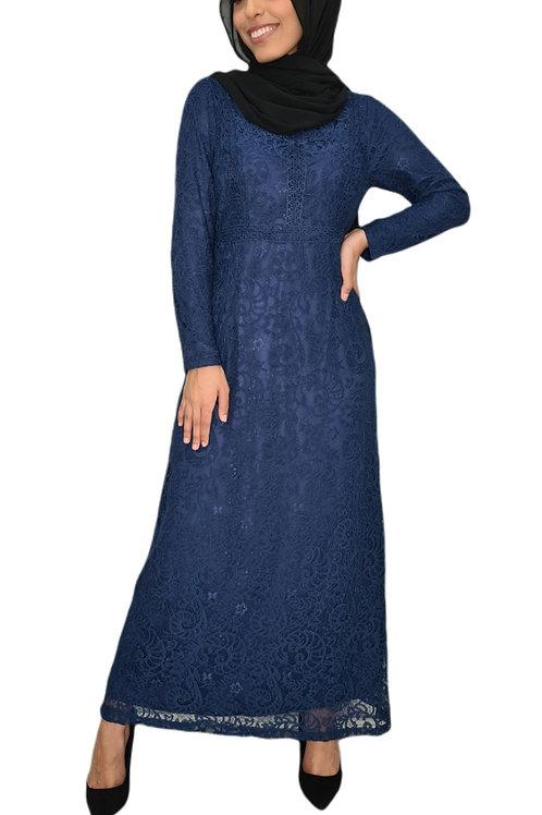 Emily Lace Dress Blue