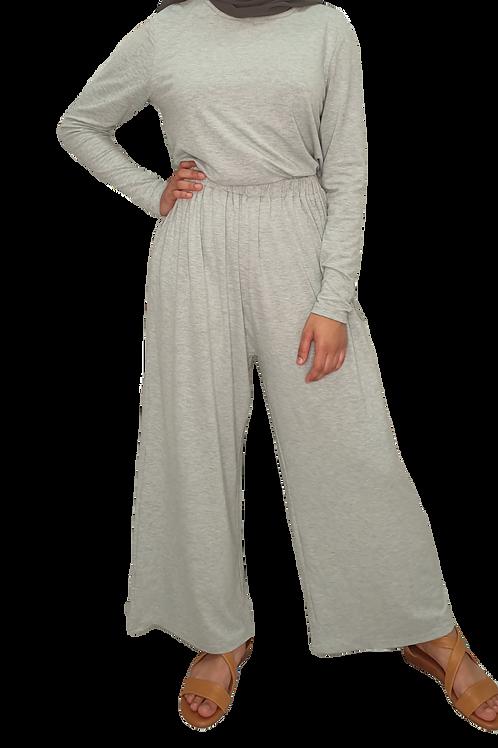 Jersey Cotton Pants Light Grey
