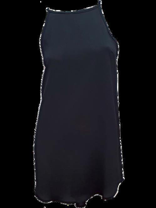 Amelia Knee Length Singlet Black