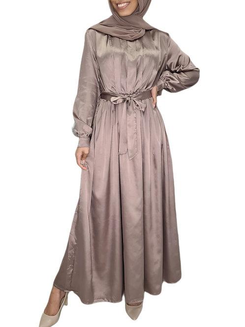 Yasmeen Satin Dress Mink