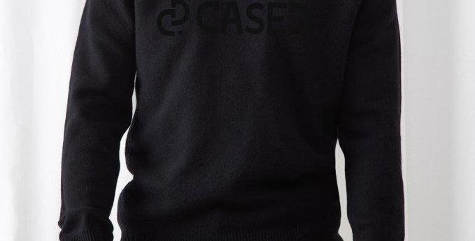 Black on black sweater
