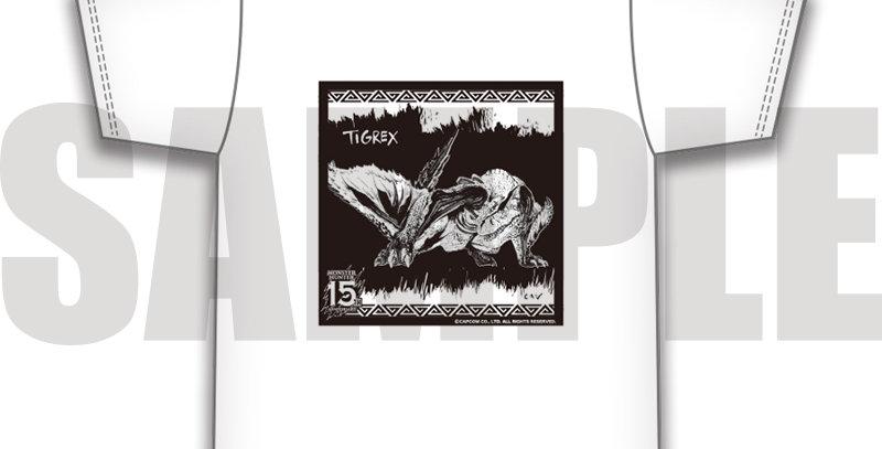 MH15th✕CANイラスト TシャツD ティガレックス