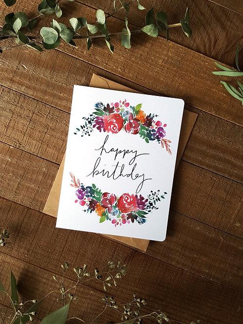 Floral Arch Birthday Card