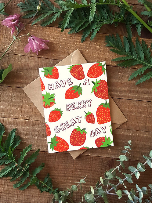Berry Great Day Card