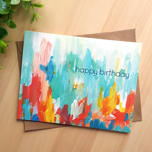 Abstract Birthday Card