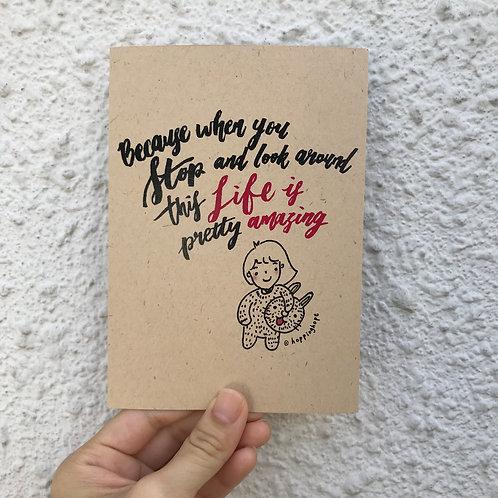 Positive quote card