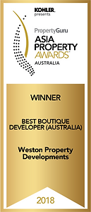 Winner Best Boutique Developer (Australi