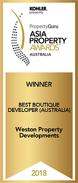 Winner Best Boutique Developer (Australi