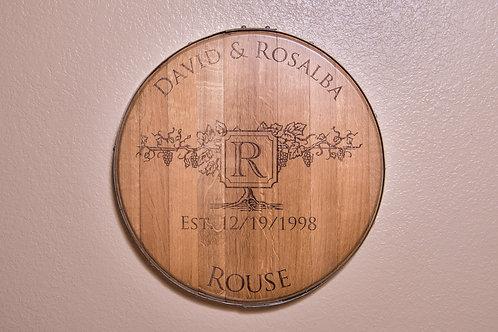 Wine barrel head Wall Mount