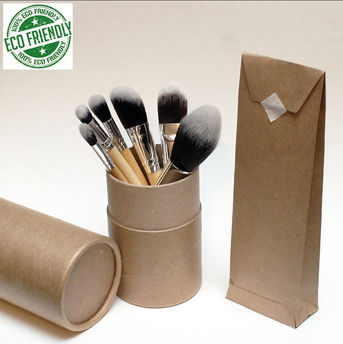 RAW BRUSH - Kit 6 Pincéis Vegan - Caixa com 35 Kits