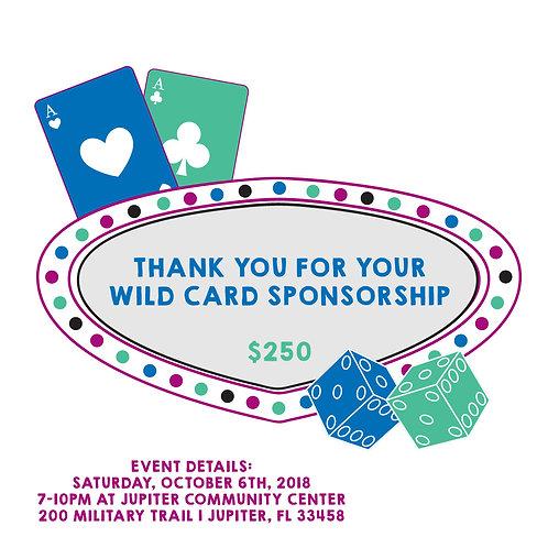 Wild Card Sponsorship: $250