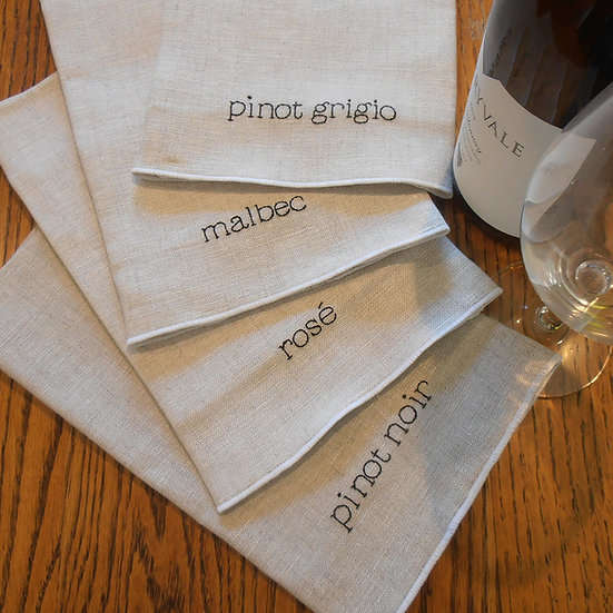 wine napkin set