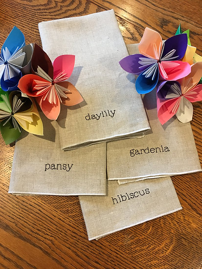 custom napkin set