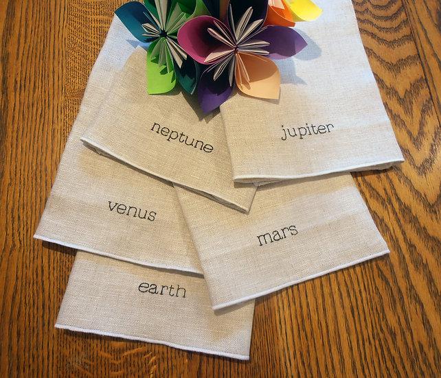 planet napkin set