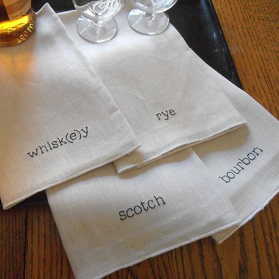 whisk(e)y napkin set