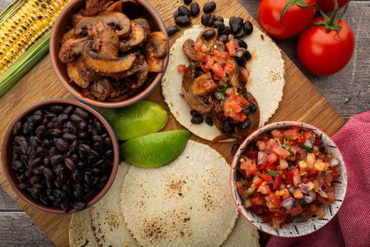 Chipotle Mushroon & Black Bean Tacos