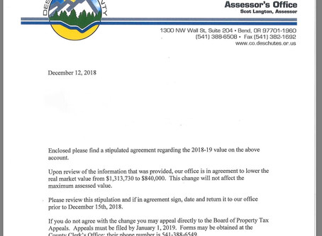 The Life of a Deschutes County        Property Tax Account