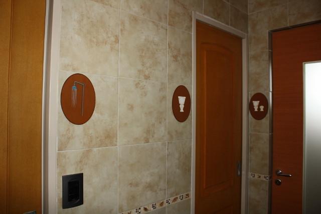 Baño. sector de cuartos individuales