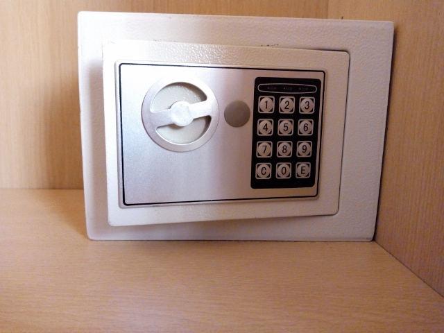 Caja de seguridad en una habitación