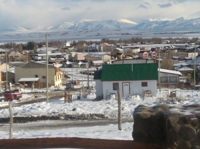 Vista desde el balcón, en invierno