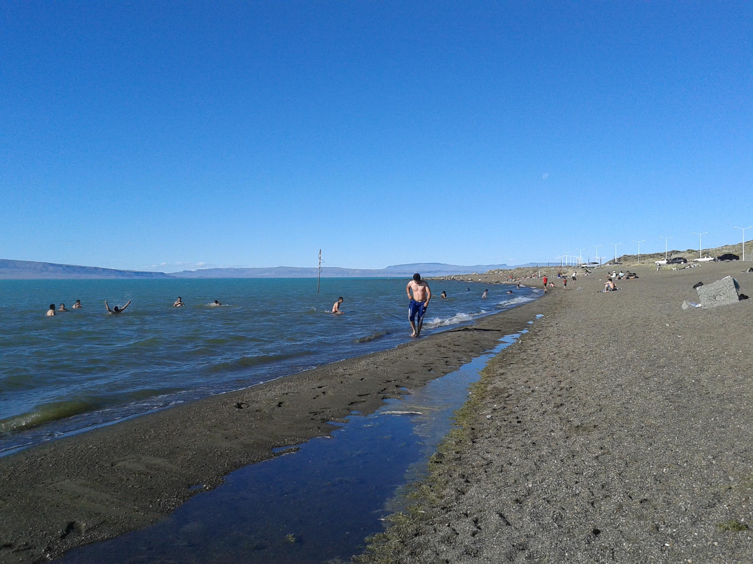 Verano, playita del Lago Argentino