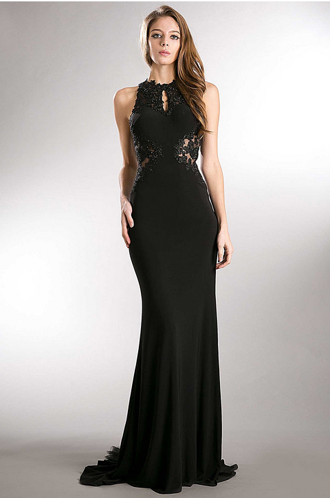 Black Mermaid Silhouette Evening Gown | Home | Perfect Images ...