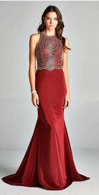 Cutout Back Prom Dresses
