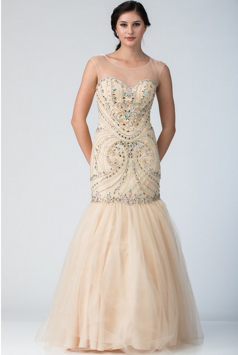 Champagne Sleeveless Dress