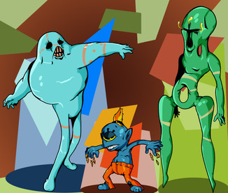 "Illustration ""Alien Creatures"""