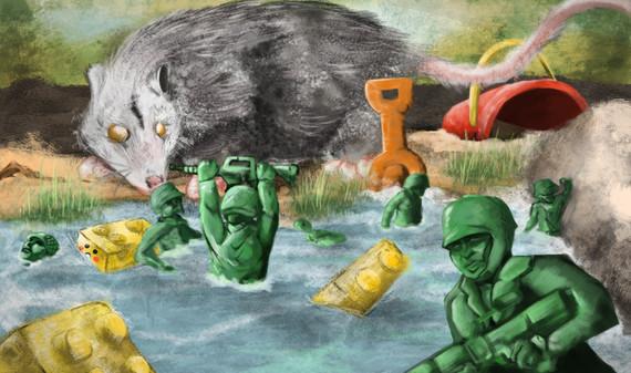 "Digital Painting -""Battle of the Jefferson's Sandbox"""