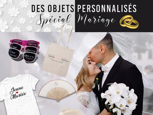 Top 5 des objets personnalisés spécial Mariage