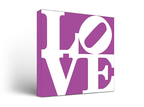 Love Sign White on Purple