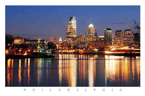 Philadelphia Skyline Night