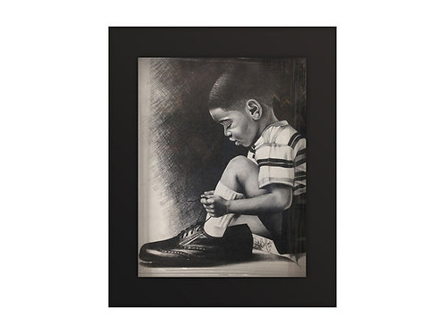 Black Art: Child with Big Shoes
