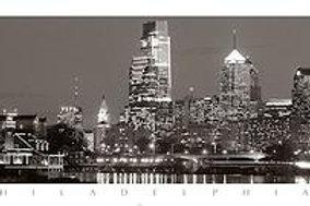 Philadelphia Skyline B&W