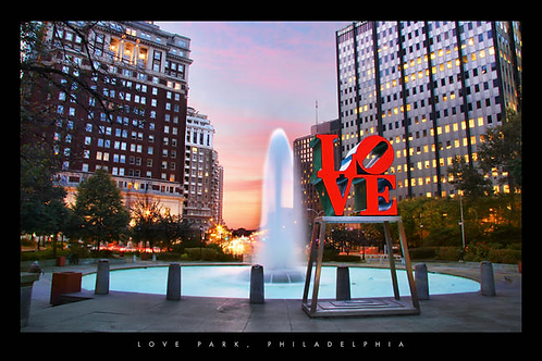 Love Park at Sunset