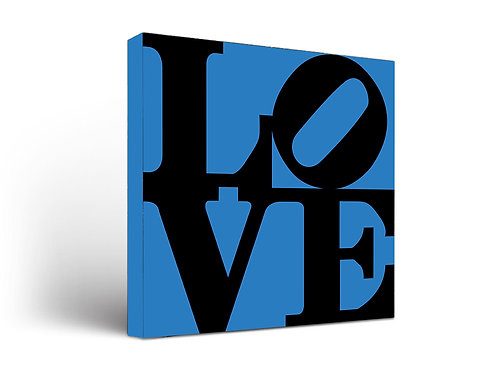 Love Sign Black on Blue