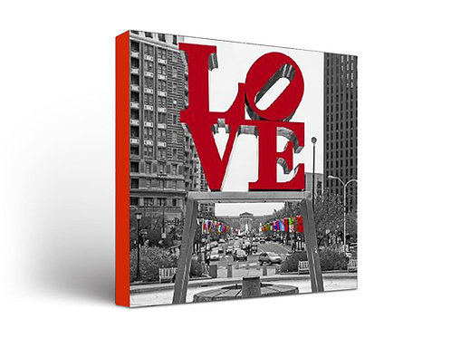LOVE Park - Red on Black & White