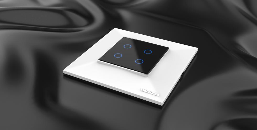 auris plate_2 modular touchswitch_white_