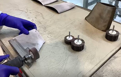The manual grinding process at ITP Aero