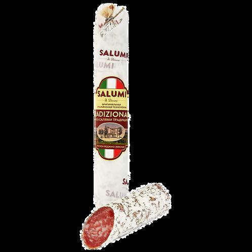 Колбаса Salumi Di Bosco «Салями Традиционная» сыровяленная полусухая, 200г