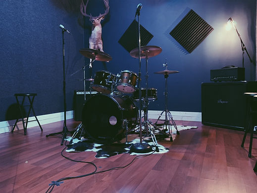 Studio B - Drums, 2 Guitar Amps, Bass Amp, PA