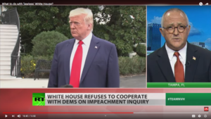 """White house Refuses to Cooperate with Dems on Impeachment Inquiry """"I caught the swamp"""""""