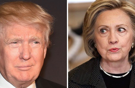 Donald Trump Hillary Clinton Race Women