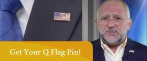 Qanon flag pin