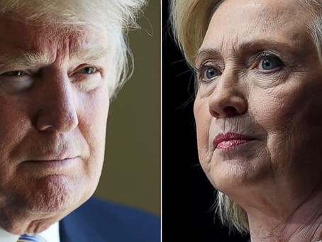 Trump Clinton Opposite Sides Of The Spectrum