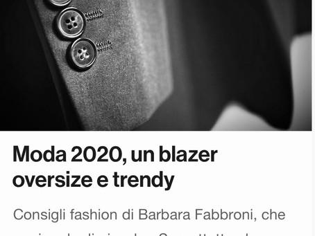Moda 2020, un blazer oversize e trendy