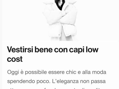 Vestirsi bene con i capi low cost