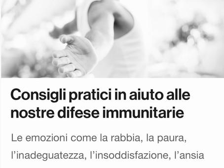 Consigli pratici in aiuto al nostro sistema immunitario