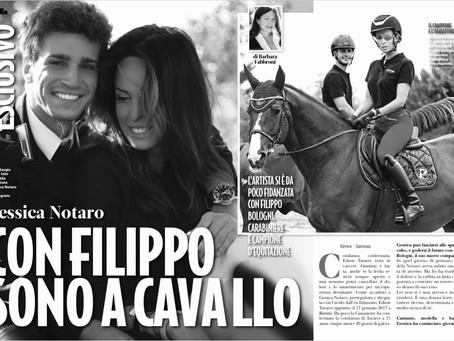 Con Filippo sono a cavallo
